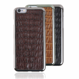 iPhone6 Caiman Crocodile Leather Cell Phone Case